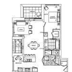 Bianca Condos - 2BB+DT - Floorplan