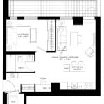 57 Brock - Queen - Floorplan
