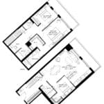 57 Brock - Skytown 5 - Floorplan