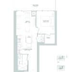65 Broadway Condos - 1B - Floorplan