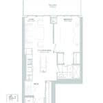 65 Broadway Condos - 1K+M - Floorplan