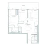 65 Broadway Condos - 2G - Floorplan