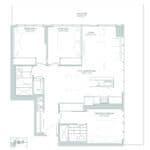 65 Broadway Condos - 3B - Floorplan
