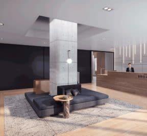 65 Broadway Condos - Lobby - Interior Render