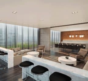 65 Broadway Condos - Lounge - Interior Render