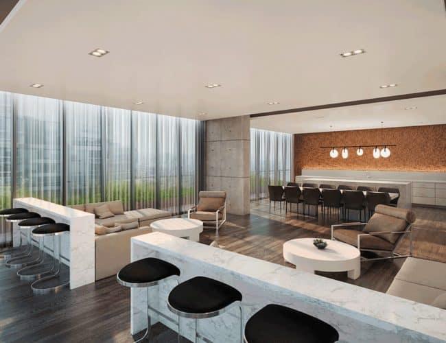 65 Broadway Condos - Lounge - Interior Render