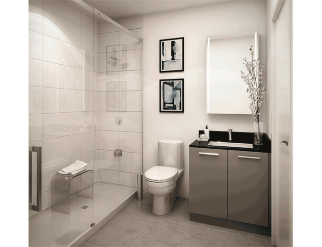 65 Broadway Condos - Suite - Bathroom - Interior Render