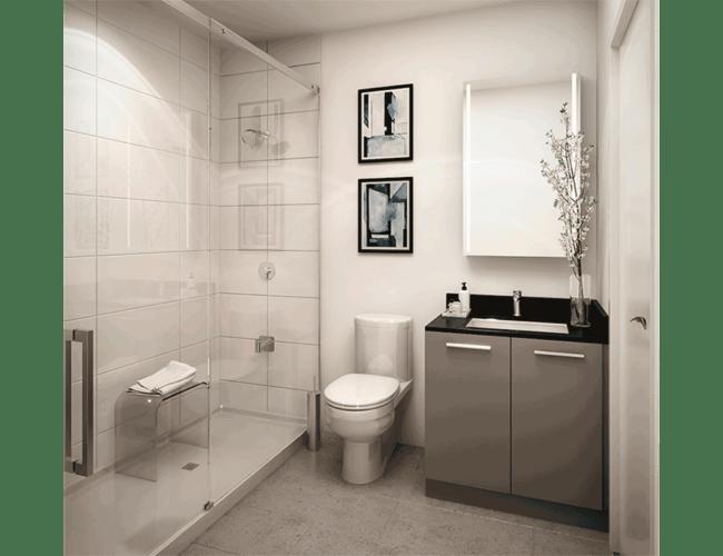 65 Broadway Condos - Suite - Bathroom - Interior Render
