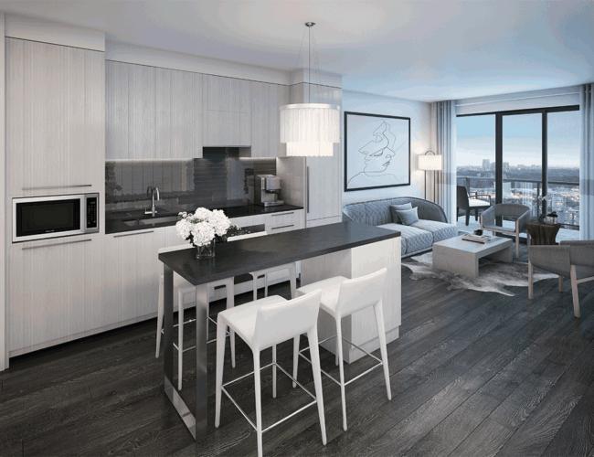 65 Broadway Condos - Suite - Dining - Interior Render