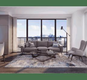 65 Broadway Condos - Suite - Living - Interior Render