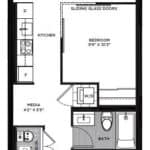 The Logan Residences - 1 Bed and 1 Bath - Alton Floorplan