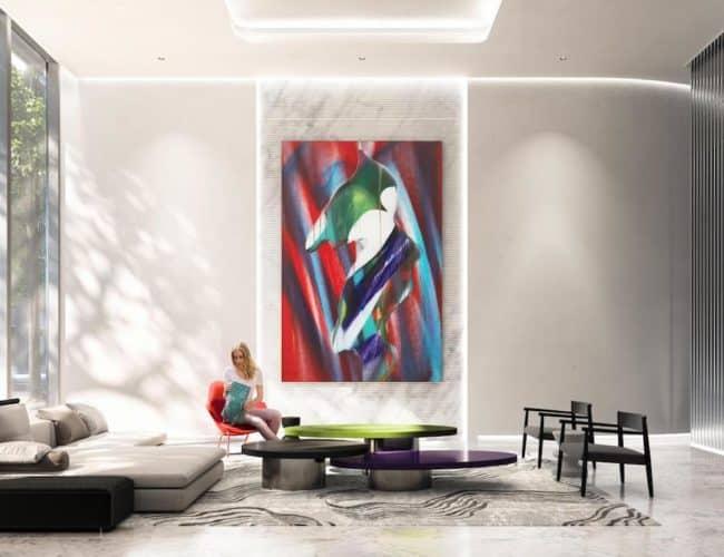 Artists' Alley Condos - Common Area - Interior Render