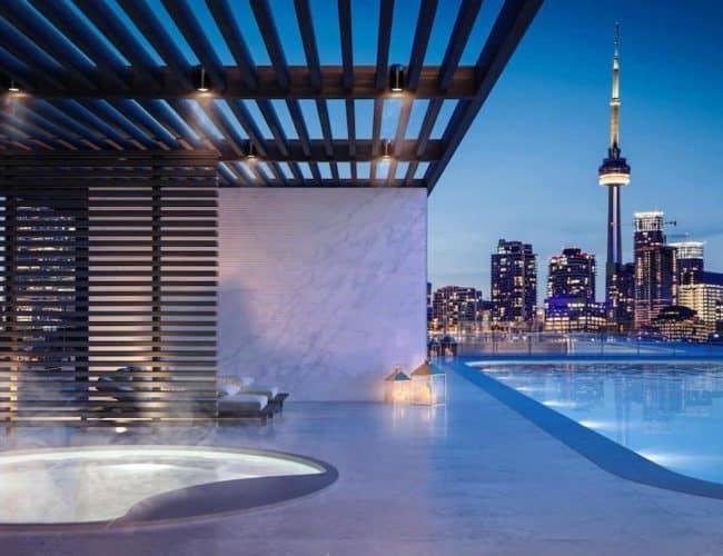 Artists' Alley Condos - Pool - Exterior Render (3)