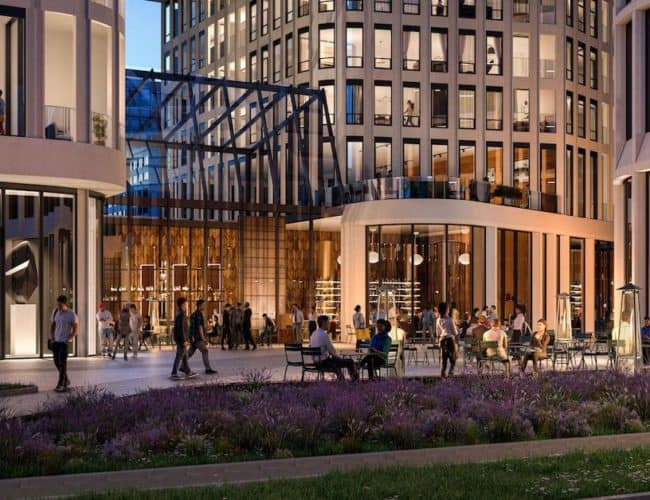 Artists' Alley Condos - Street Level View - Exterior Render