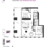 Artists' Alley Condos - Amaranth - Floorplan