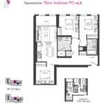 Artists' Alley Condos - Aquamarine - Floorplan