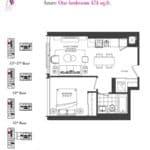 Artists' Alley Condos - Azure - Floorplan