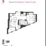 Artists' Alley Condos - Begonia - Floorplan
