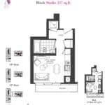 Artists' Alley Condos - Blush - Floorplan