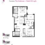 Artists' Alley Condos - Carmine - Floorplan