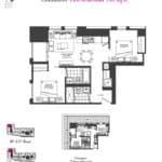 Artists' Alley Condos - Cinnamon - Floorplan