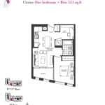 Artists' Alley Condos - Citrine - Floorplan