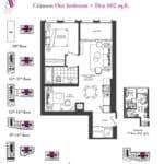 Artists' Alley Condos - Crimson - Floorplan