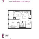 Artists' Alley Condos - Cyan - Floorplan
