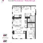 Artists' Alley Condos - Emerald - Floorplan