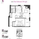 Artists' Alley Condos - Jade - Floorplan