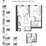 Artists' Alley Condos - Jasmine - Floorplan