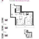 Artists' Alley Condos - Lavender - Floorplan
