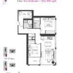 Artists' Alley Condos - Lilac - Floorplan