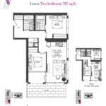 Artists' Alley Condos - Linen - Floorplan