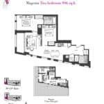 Artists' Alley Condos - Magenta - Floorplan