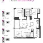 Artists' Alley Condos - Mandarin - Floorplan