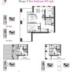 Artists' Alley Condos - Mango S - Floorplan