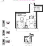 Artists' Alley Condos - Maroon - Floorplan