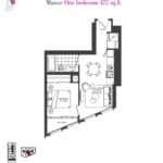 Artists' Alley Condos - Mauve - Floorplan