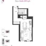 Artists' Alley Condos - Onyx - Floorplan