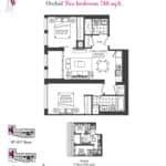 Artists' Alley Condos - Orchid - Floorplan