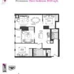 Artists' Alley Condos - Persimmon - Floorplan
