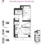 Artists' Alley Condos - Royal - Floorplan