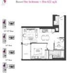 Artists' Alley Condos - Russet - Floorplan