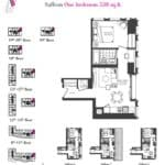 Artists' Alley Condos - Saffron - Floorplan