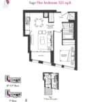 Artists' Alley Condos - Sage - Floorplan
