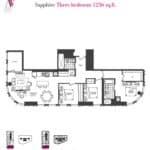 Artists' Alley Condos - Sapphire - Floorplan