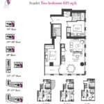 Artists' Alley Condos - Scarlet - Floorplan