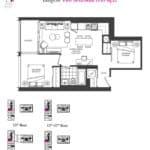 Artists' Alley Condos - Tangelo - Floorplan