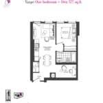 Artists' Alley Condos - Taupe - Floorplan